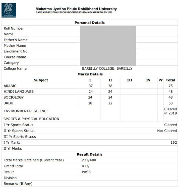 MJPRU-Result