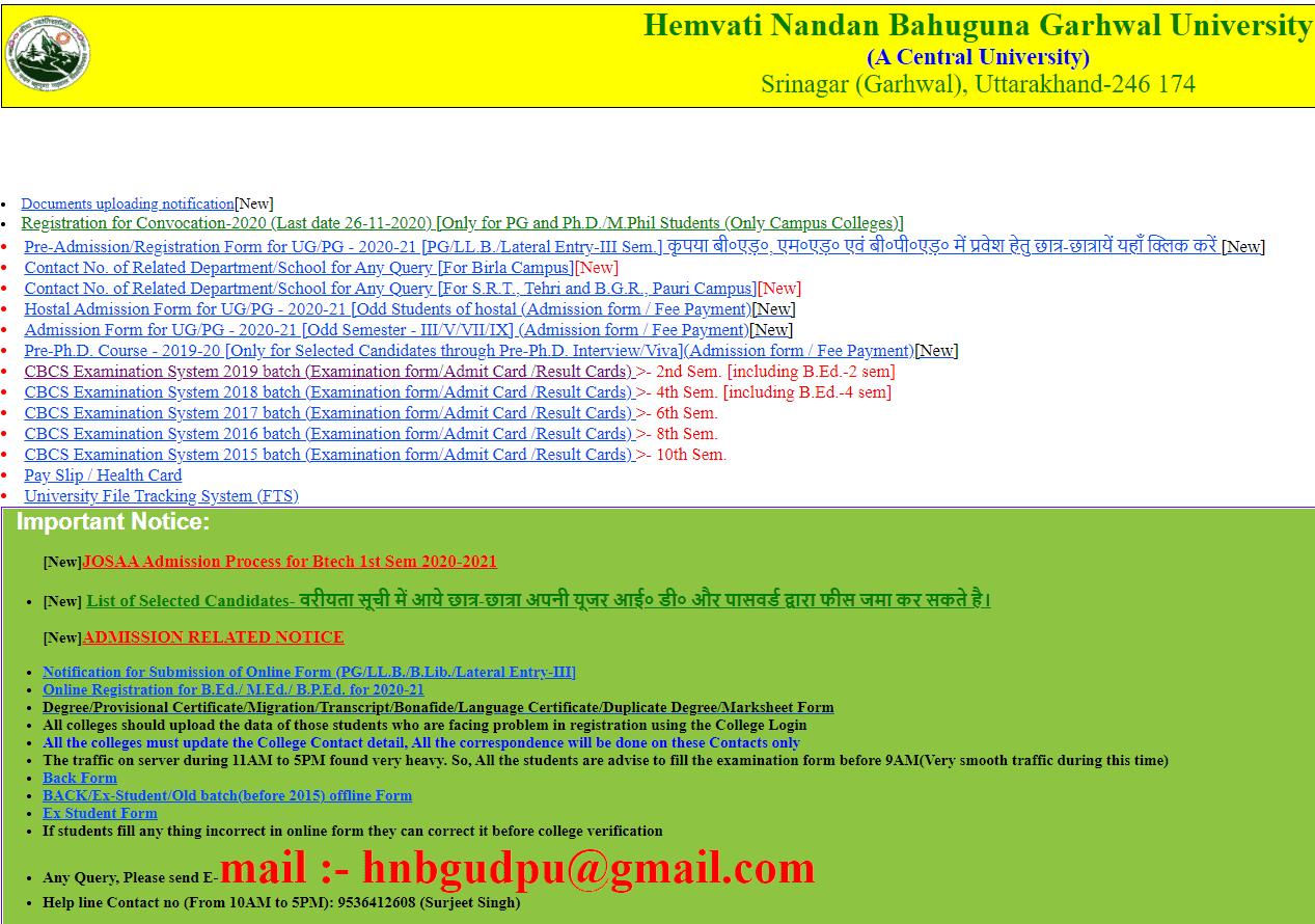 HNBGU-Result-Online-Check